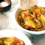 vegan squash stew with bread