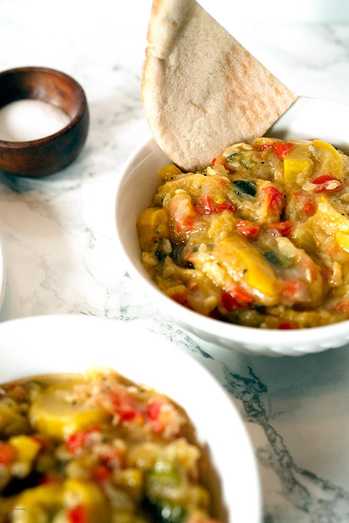 bowl of squash stew