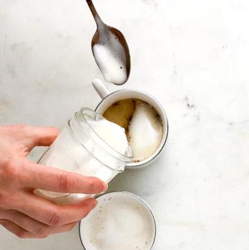 DIY foamy milk