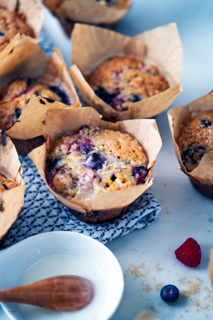 double berry muffins