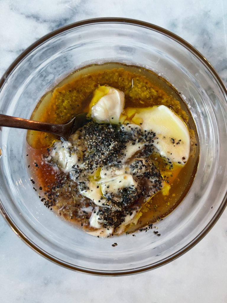 honey mustard sauce before mixing